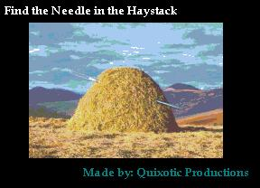 find the needle in the haystack